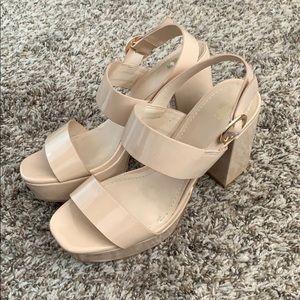 H&M Nude Platform Heels